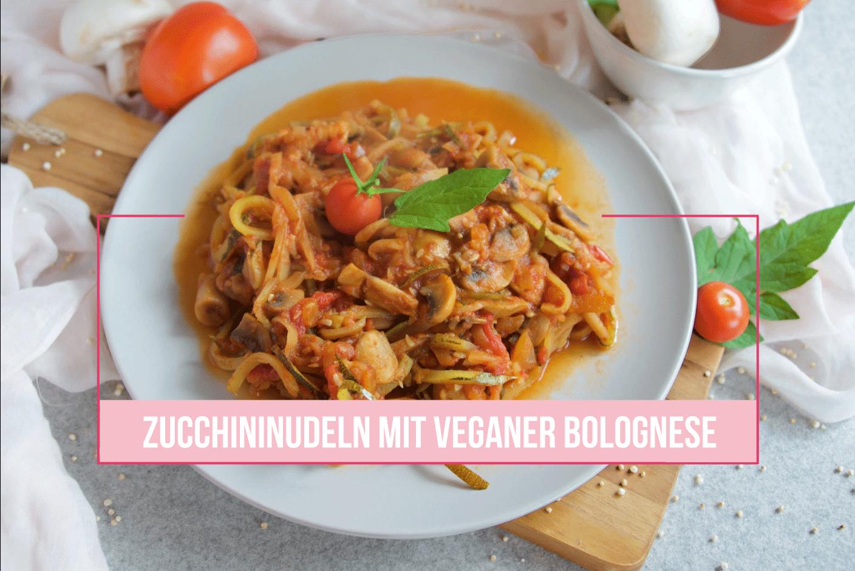 Zucchininudeln mit veganer Bolognese