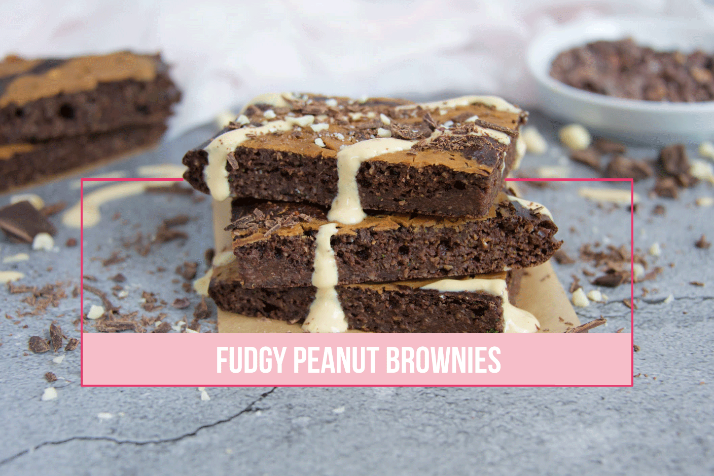 Fudgy Peanut Brownies